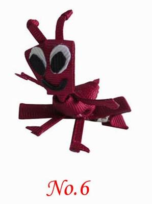 ANT--Sculpture hair bows style boutique hair bow girl bug bow