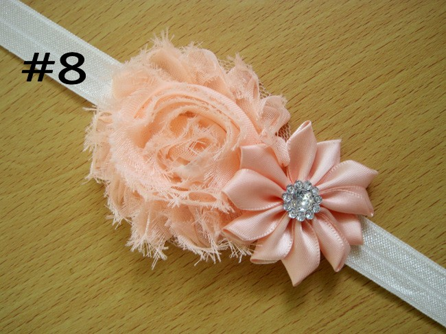 Shabby Flower Headband Newborn Baby Girl Hair Bow Little Girls H
