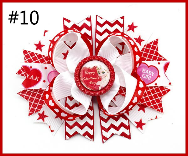 2017 Newest 5.5''inspired hair bows popular character hair bow