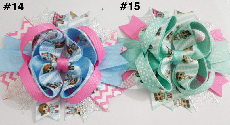 5'' doll hair bows lol suprise hair clips