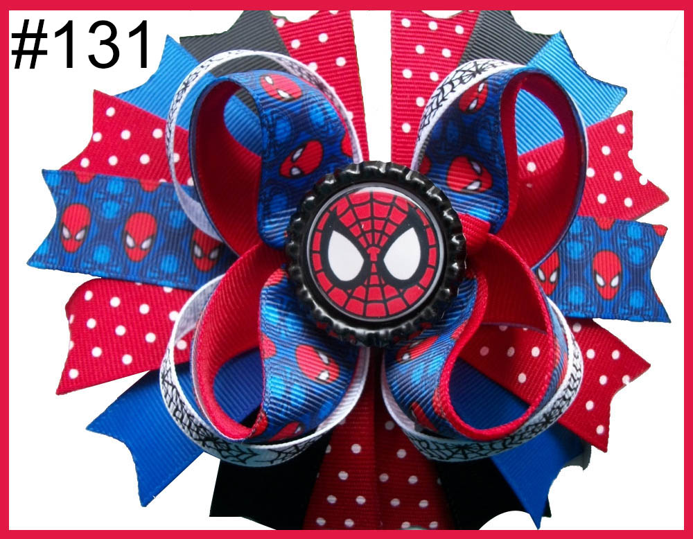 4.5-5.5'' Captain America Bow Avengers Hair Bows Iron Man Bow S