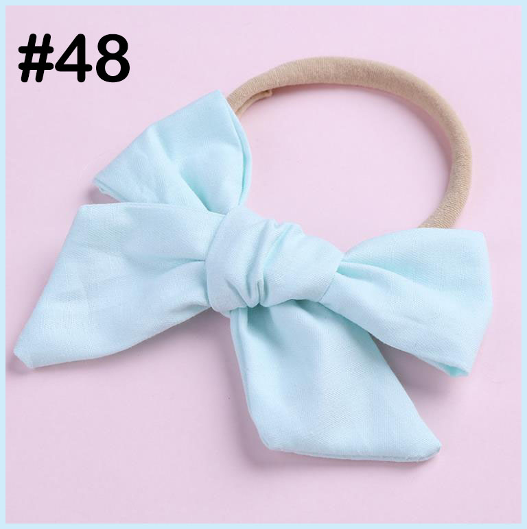 100% cotton baby bows cotton Fabric Bow Nylon One Size