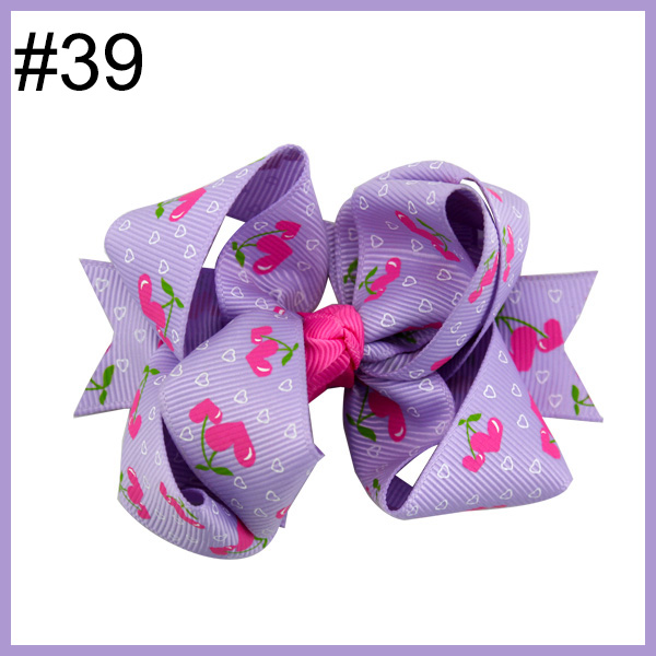 3.5'' Cute Valentine's Hair Accessories Heart Patch Grosgrain