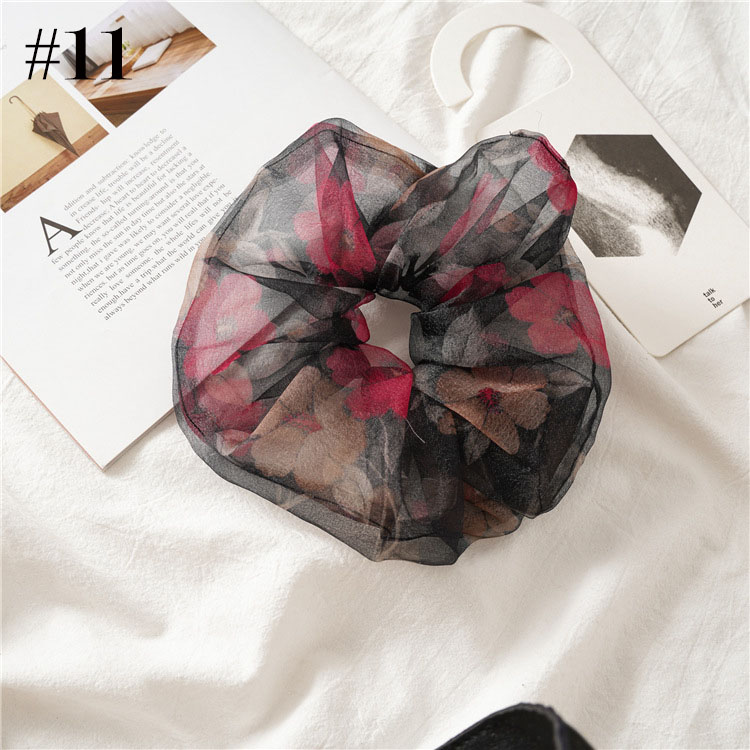 5-6.5'' big Summer hair scrunchies