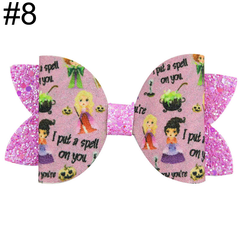 4-5'' inspired hair bow witch fall hair bow halloween bow