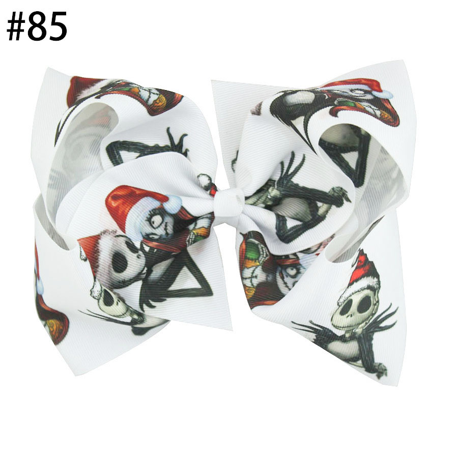 8'' nightmare before christmas Hair Bows With Clips