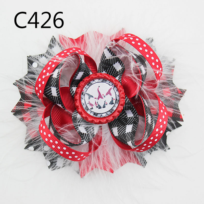 Christmas Hair bow, Christmas Hair clip christmas baby girl