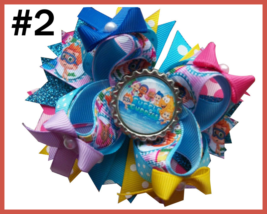 bubble guppies cartoon hair bows