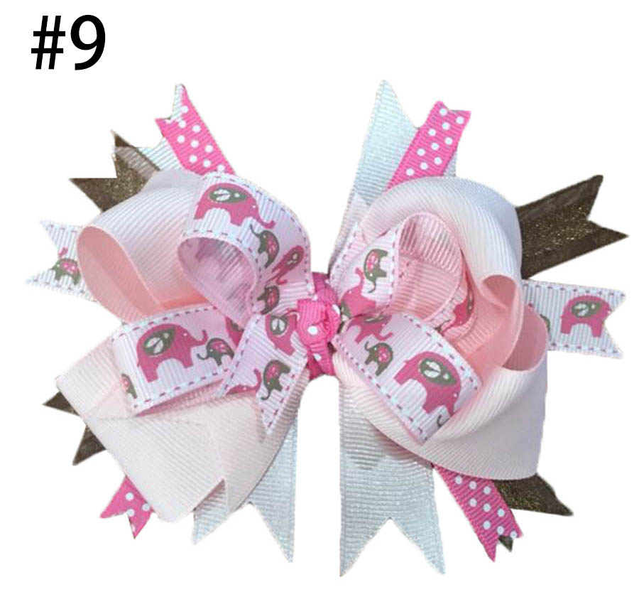 4.5-5.5 '' Elephant Hair Bow Little Girl Bows Toddler Hair Bows