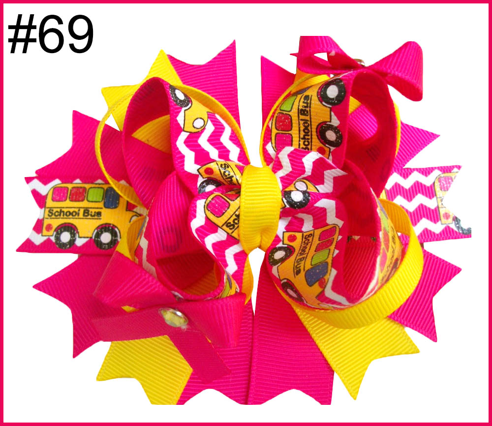 School Hair Bow Go back to School