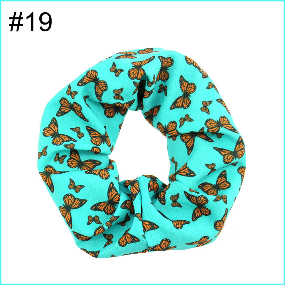 5.5'' big inspired hair scrunchies girl elastic hairbands Women