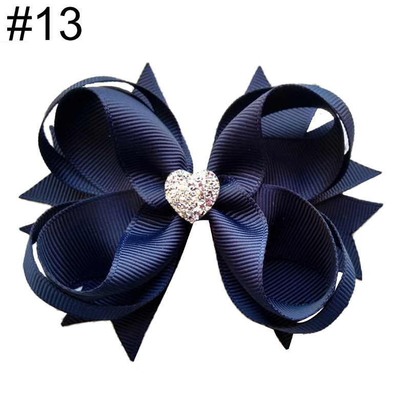 4'' solid inspired boutique girl hair Bows Accessories With Cli