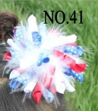 4th of july bows all american pride hair bows