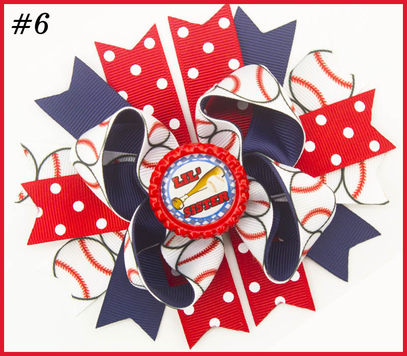 5'' 2017 newest character hair bows school hair bows Patriotic