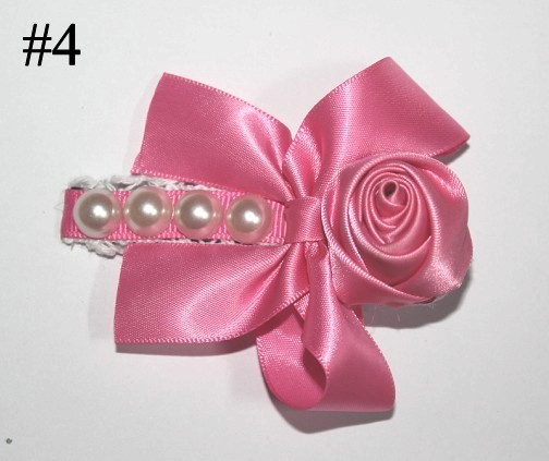 3.5'' rose pearl boutiqu hair clips
